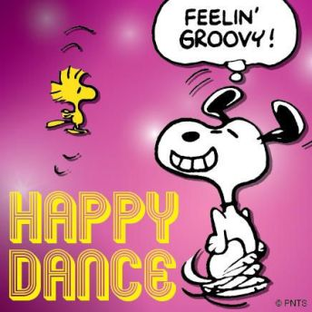snoopy happy dance
